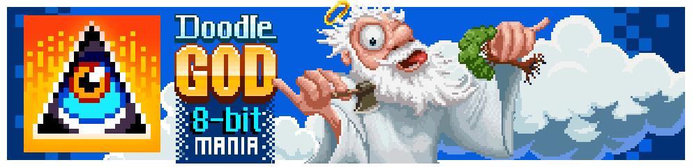 Doodle God: 8-bit Mania Header Image